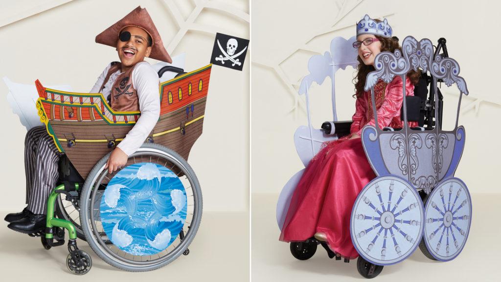 Αποτέλεσμα εικόνας για Μεγάλη αλυσίδα καταστημάτων κυκλοφόρησε αποκριάτικες στολές για παιδιά με αναπηρίες